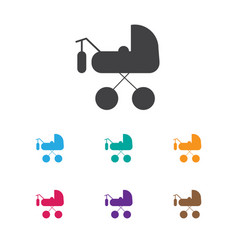 Of baby symbol on buggy icon vector
