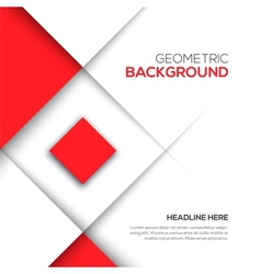 Geometric red 3d background vector