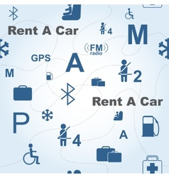 Rent a car seamless pattern vector