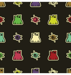 Monsters - seamless pattern vector image