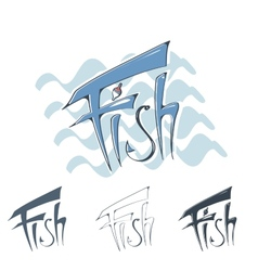 Lettering fish vector
