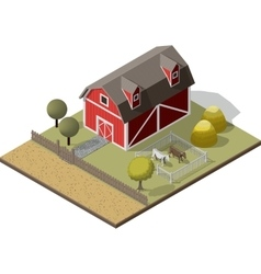 American traditional old barn vector