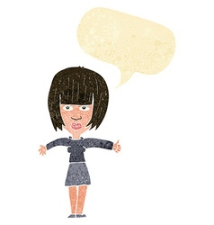 Cartoon annoyed woman with speech bubble vector