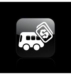 Bus pay icon vector