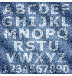 jeans alphabet vector image