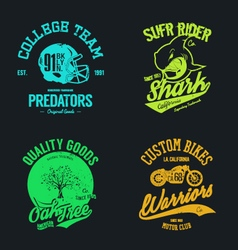 t shirt design set vector image