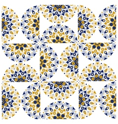 star round ornate background pattern vector image
