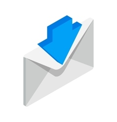 Incoming email icon isometric 3d style vector