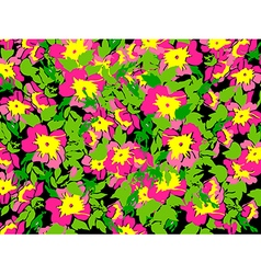 Spring summer flowers in vintage style floral vector