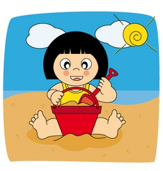 baby beach vector image