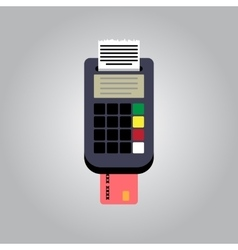 Bank card reader vector