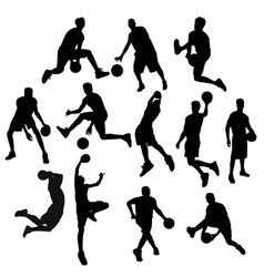 Basketball Player Silhouette vector image