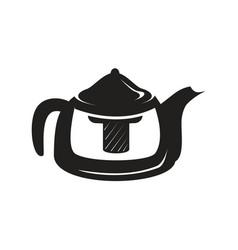 black kettle icon vector image