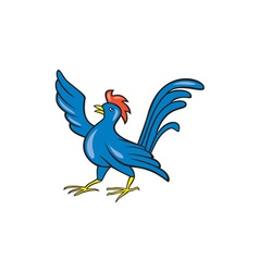 Chicken Rooster Wing Pointing Cartoon vector image