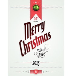 Christmas menu of the day template vector image vector image