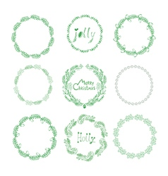 Christmas wreaths50 vector image vector image