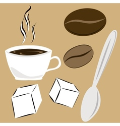 coffee attributes vector image