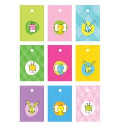 Cute birthday gift tags vector image vector image