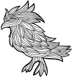 decorative graphic with a bird vector image