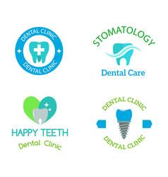 Dental stomatology clinic badge icon vector