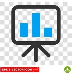 Display bar chart eps icon vector
