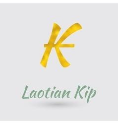 Golden kip symbol vector