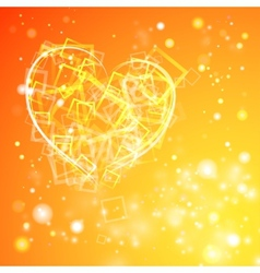 Heart with flashes of light vector image vector image