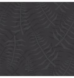Jungle leaf seamless black pattern vector image