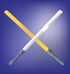 Light beam laser swords vector