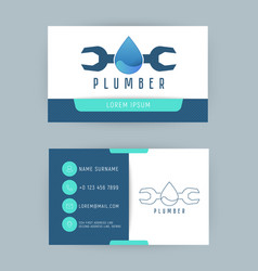 logo for repair company or plumbing service vector image