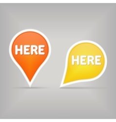 Map sign vector