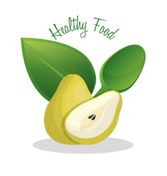 Pear healthy food diet design vector