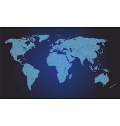 Stylized world map vector