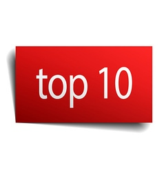 Top 10 red paper sign on white background vector