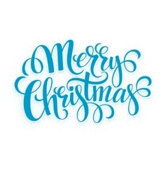 Verry Christmas greeting lettering vector image vector image