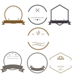 vintage logos design templates logotype set design vector image