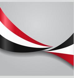 yemeni wavy flag vector image