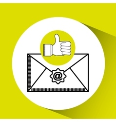 Like email concept sms letter vector