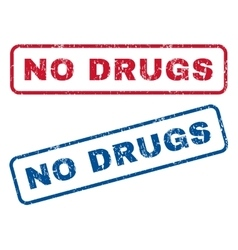 No drugs rubber stamps vector