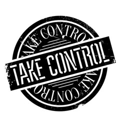 Take control rubber stamp vector