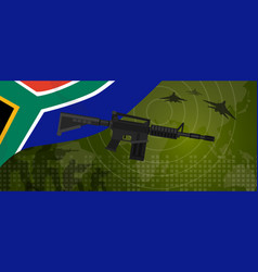 South africa military power army defense industry vector