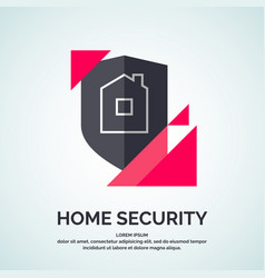 Modern minimalistic logo design for home vector