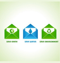 save earthwater and environment concept stock vector image