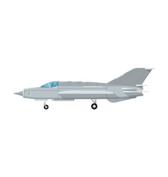 army battle jet aircraft isolated icon vector image