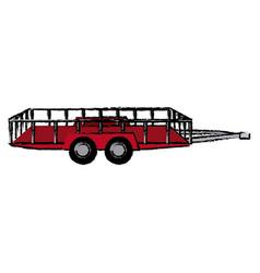 Dump trailer cargo transport shipping vector