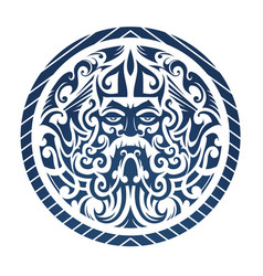 The god of the sea concept shaped int vector