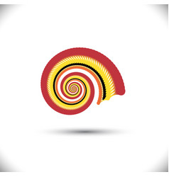 Abstract spiral or swirl vector