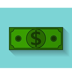 Icon of dollar flat style vector