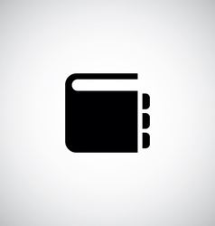 Notepad symbol icon vector
