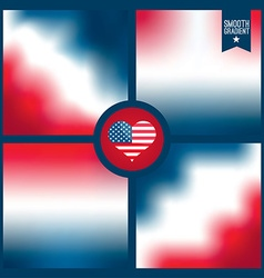 Smooth background of american color vector
